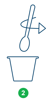step two stir with spoon icon